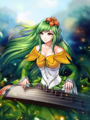 #22 Magnolia - Lilligant Gijinka by GigaMessy