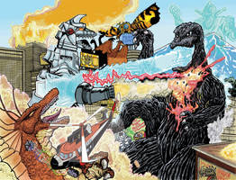 Terror Of MechaGodzilla re-imagined  Full Color by fbwash