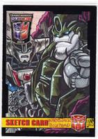 2012 BotCon Sketch Card : TF Prime Wreckers by fbwash