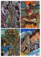 2012 Kaiju Kards Set 8 by fbwash