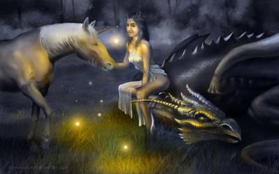 Dama del bosque by DavidMGarcia