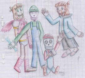 Crossdressing : Skelebros-Mario Bros by Laogei