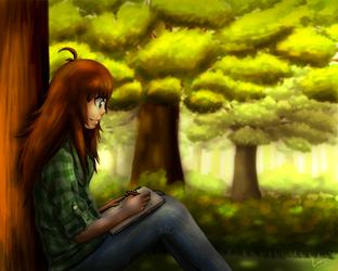Digital Painting of Myself by Lauzi