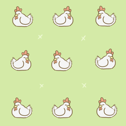 Chibi Chicken Background by Lauzi