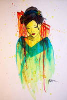 Water Color Geisha by ElectricHeaven93