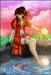 L'ardente demoiselle au bord de l'eau. by 13-Lenne-13