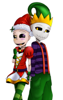 Chasember day 24: Christmas Clothes. Collab! by 13-Lenne-13