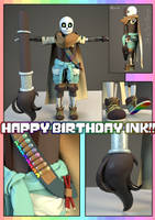 Happy Birthday Ink! (Ink 3D model) by 13-Lenne-13