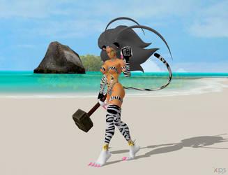 Felicia as Caribbean Blue's Kimi by NekoHybrid