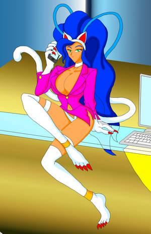 Felicia the Office Cat Lady by NekoHybrid