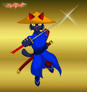 Commission: Samurai Kitten Diogee by NekoHybrid
