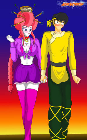 Commission: Ranma-chan and Ryoga by NekoHybrid