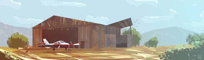 no man's land or hangar 6 by Grashalm89