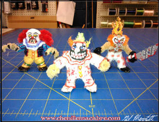 Pennywise-Sweet Tooth-Twisty Pipe Cleaner Minis by the-gil-monster