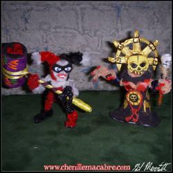 Harley Quinn/Darkest Dungeon Chenille Stem Minis by the-gil-monster