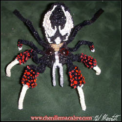 Grendel Spider- Chenille Stem Miniature by the-gil-monster