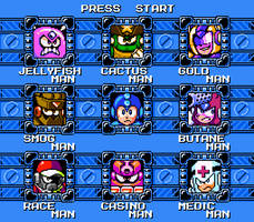 MegaMan Unleashed Stage Select Mock-up by AlmKornKid