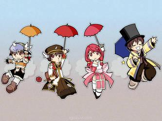 Umbrella no chibi by saka