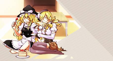 Tea and cake with Mami and Marisa by saka