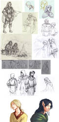 Betrayal at Krondor sketchdump by Kaytara