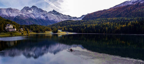 The Lake of  St. Moritz 2012 Oct by jumbogrand