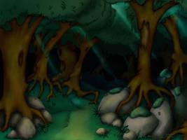 woods by Legendzor
