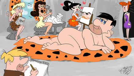 Fred Flintstone art class model by E-Ocasio