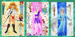 Sailor Moon Super S Amazon Trio individuals by E-Ocasio