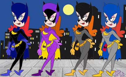 Batgirl in Loud House style different colors by E-Ocasio