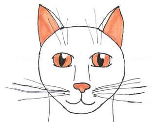 Cat head by PickleWeasel