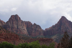 Mountains Zion Canyon by Seluias-stock