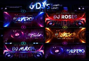 6 DJ's FB Timeline Cover by ranvx54