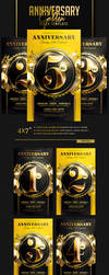 Golden Anniversary Flyer Template by ranvx54