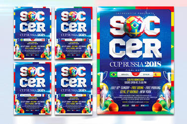 World Soccer Cup Flyer Template by ranvx54