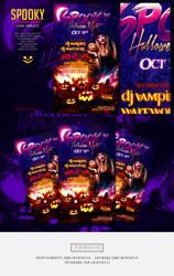 Spooky Halloween Night Flyer Template by ranvx54