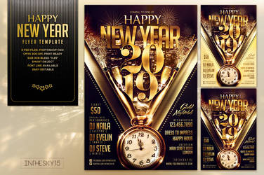 Happy New Year Flyer Template by ranvx54
