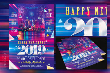 New Years 2019 Flyer Template by ranvx54