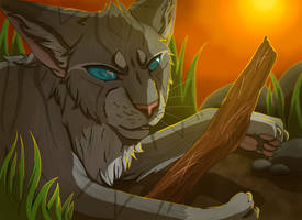 Jayfeather and His Stick (REDRAW + SPEEDPAINT) by BowtieMySoul