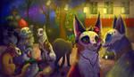 Day Of The Dead (Felines!) by itsmyartfam
