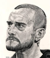 CM Punk Drawing by redchaos187