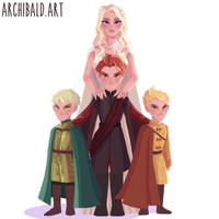 Mother of Dragons by archibaldart