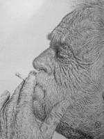 Smoking Old Man by NevilleGordonArt