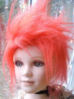 Dollfie fur wig by littlepinkfaery