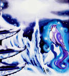 Articuno (pokemon) and a crystal palace by Onkyo093
