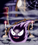 Gastly (pokemon) in a ghost estate by Onkyo093