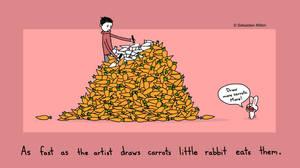 Drawing Carrots for Rabbit by sebreg