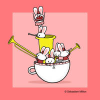 The Teacup Bunny Band by sebreg