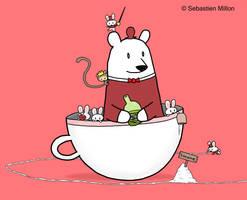 Teacup Bunnies and Teacup Bear by sebreg