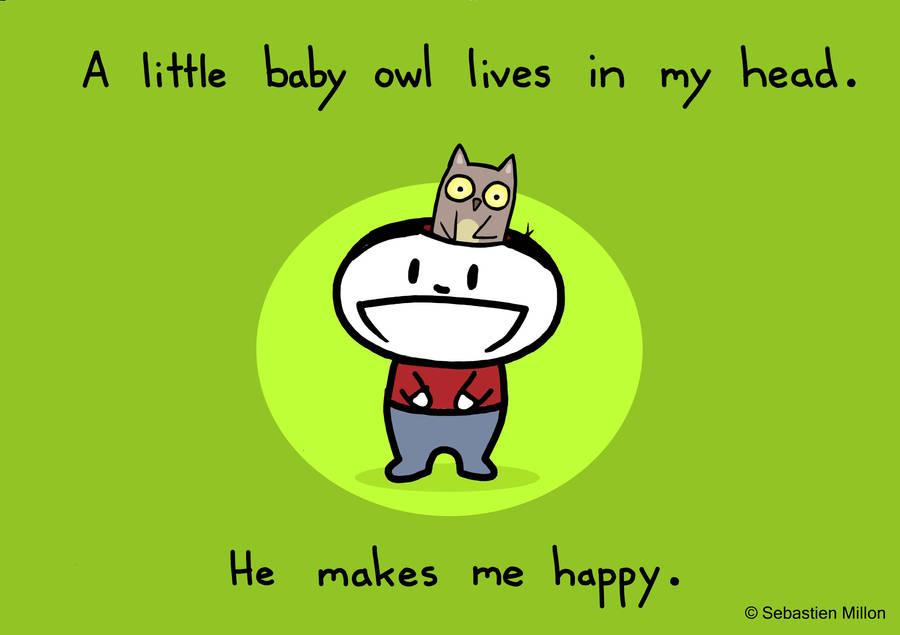 Baby Owl in my Head by sebreg