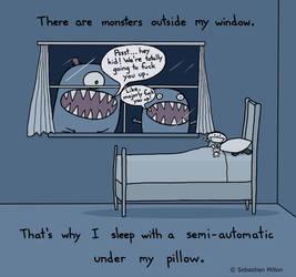 Monsters Outside My Window by sebreg